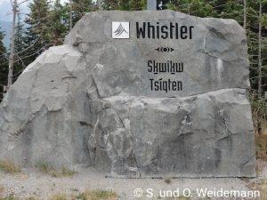 Whistler in der Sprache der Sqamish