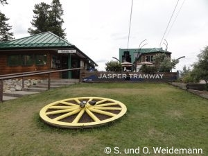 Die Jasper Tramway - Talstation