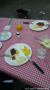 Essen mit Fleisch