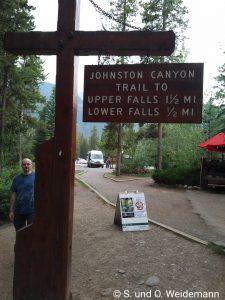Eingang zum Johnston Canyon