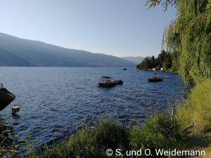 Der Campingplatz liegt am Skaha Lake