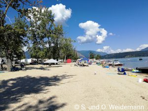 Strand am Shuswap Lake