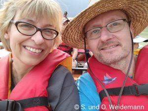 Zwei der mutigen Safari-Teilnehmer