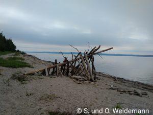 Blick auf den See, ohne das Rauch in der Luft liegt
