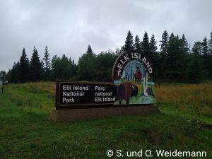Der Eingang zum Elk Island NationalPark