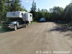 Der Campingplatz für Wohnmobile im Elk Island NP
