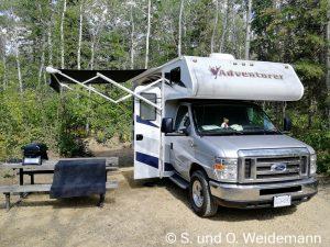 Der Stellplatz auf dem Jarvis Bay Campground