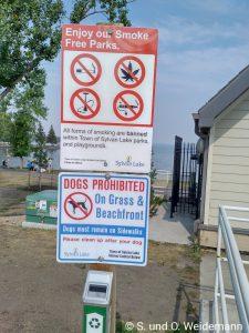 Auf der Wiese kein Gras rauchen!