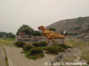 Der Ortseingang von Drumheller