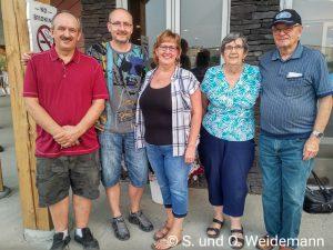 Leslie, Olaf, Sandra, Hilda und Alfred