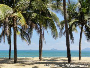 Der Strand bei unserem Hotel in Hoi An