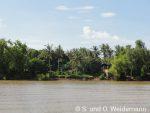 Das Ufer des Bassac Flusses