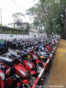 Ein Parkplatz in Saigon